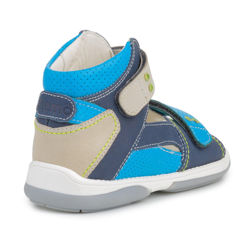 Memo Monaco Children's Corrective Orthopedic AFO Sandal, Gray/Blue, 27 (10 M US Little Kid) by Memo (Image #2)