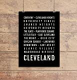 Cleveland Ohio Print - Neighborhoods - Subway Sign Poster, Wall Art, Décor, Canvas, Word Map, Gift, Bus Scroll, Typography, Minimal, Custom, Personalized
