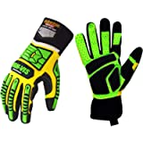 Seibertron HIGH-VIS SDXG2 Dexterity Super Grip GEL Oil & Gas Anti-Vibration Impact Protection Safety Gloves CE EN388…
