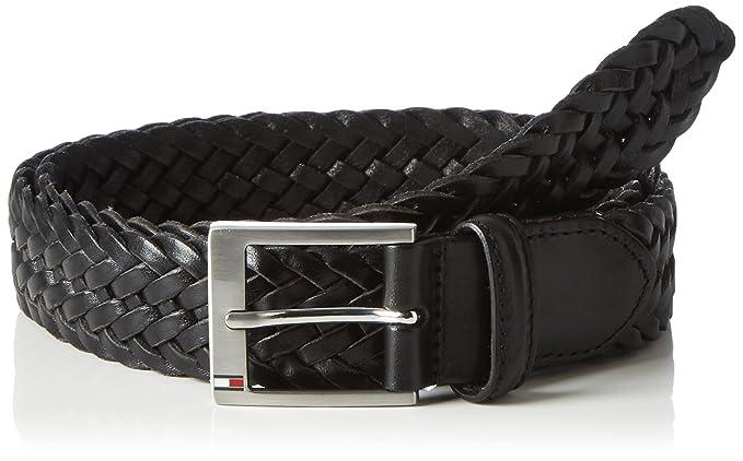 dbd92f5d9 Tommy Hilfiger Men's AM0AM02218 Belt - Black - 85 cm: Amazon.co.uk: Clothing