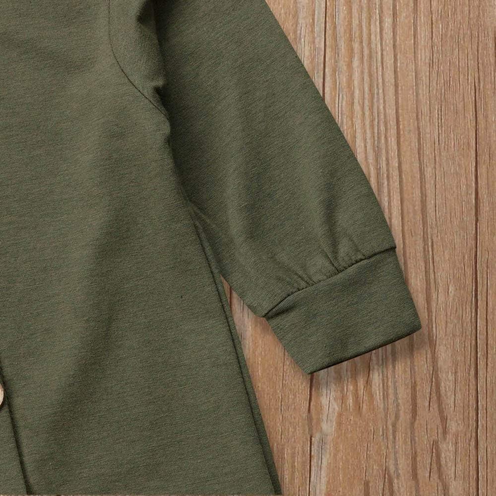 MRULIC Infant Baby Anzug M/ädchen Jungen Langarm Solide Kapuzen Jumpsuit Outfits Kleidung Overall Herbst und Winter Hoodie Pullover
