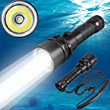 Goldengulf Cree XM-L2 Led Scuba Diving Flashlight Torch Underwater 100M Waterproof Submarine Light Rechargeable Battery…