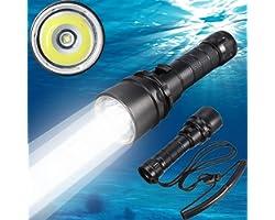 Lanterna de Mergulho Goldengulf Cree XM-L2 LED 100 m à prova d'água Submarino luz recarregável bateria e carregador incluído