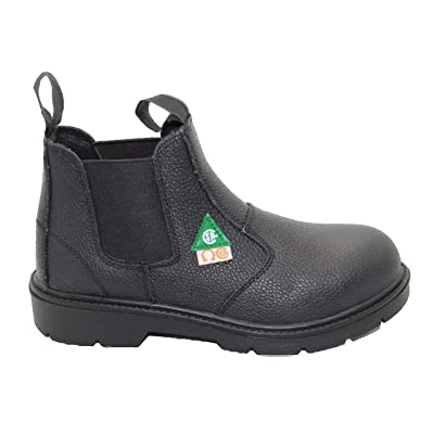 DOLPHIN D5 US Standard Approved, Leather, Safety Shoes, Construction booots: Shoes