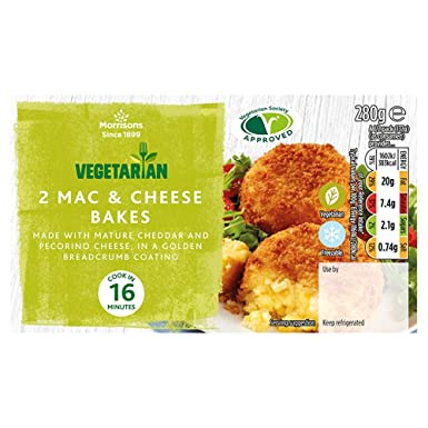 Morrisons Vegetarian 2 Mac Cheese Bakes 280 G Amazonco