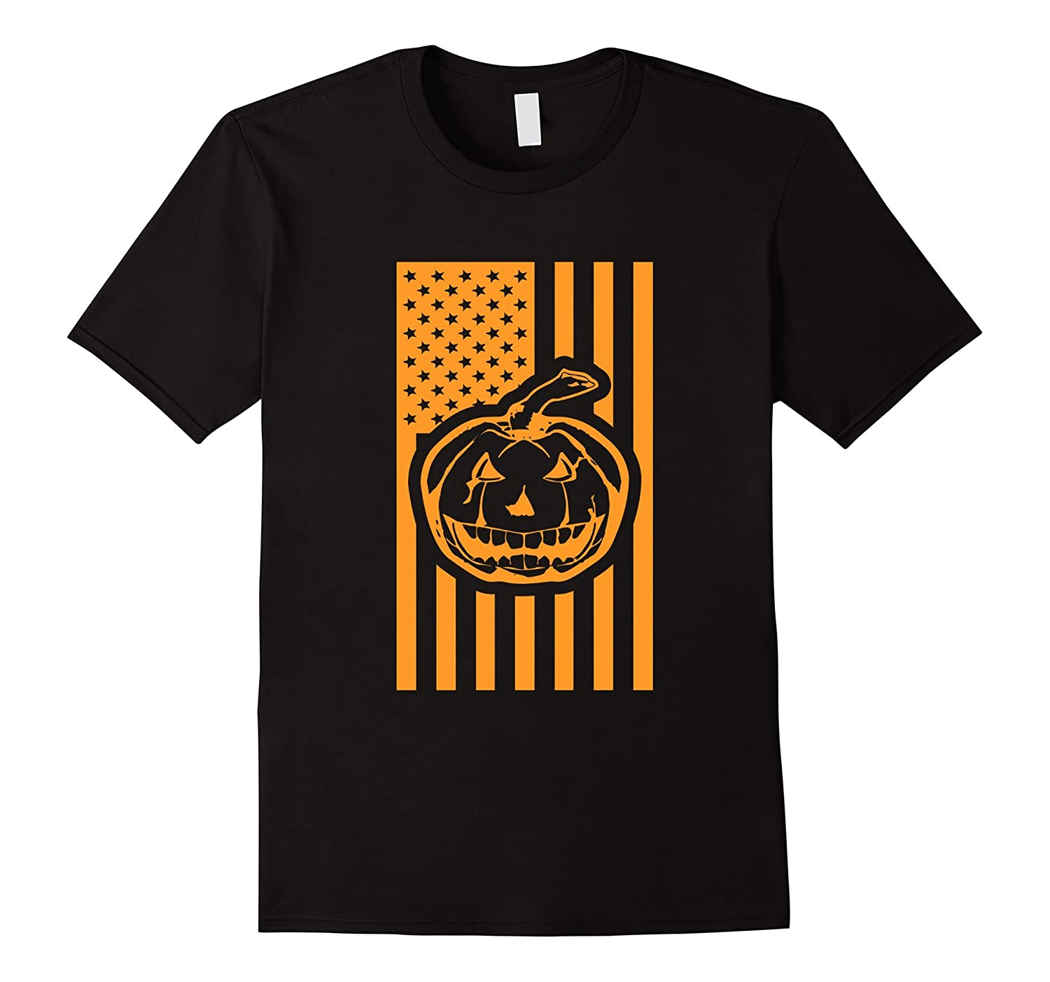 USA Pumpkin Flag | Halloween Adult T-Shirt-T-Shirt