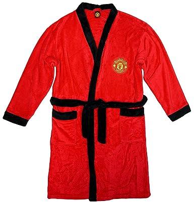 Boys Manchester United MUFC Man Utd Toddler Fleece Dressing Gown ...
