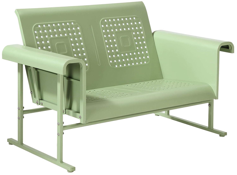 Crosley Furniture CO1027-GR Veranda Loveseat Glider, Oasis Green
