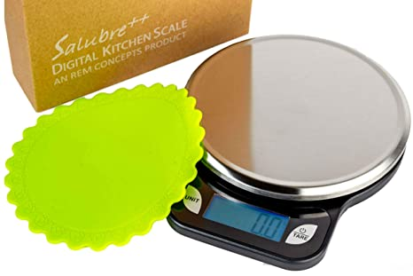 Salubre Digital Food Scale With Stainless Steel Weighing Platform Digital Kitchen Scale Weighs In Pounds