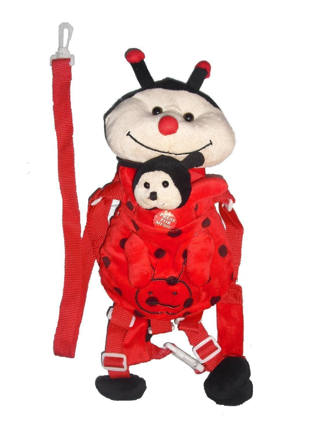 Ladybug Toddler Safety Harness Leash For Kids with Small Backpack