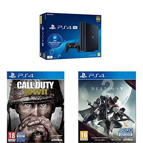 Playstation 4 Pro (PS4) - Consola de 1TB + 20 live card ...