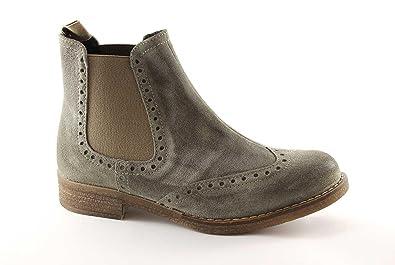 Pregunta 22000 taupe bottes chaussures femme beatles Grigio - Chaussures Bottine Femme