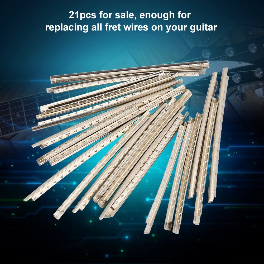 Dilwe Guitar Fret Wires, 21pcs Standard Copper Guitar FretWire 2.9mm ...