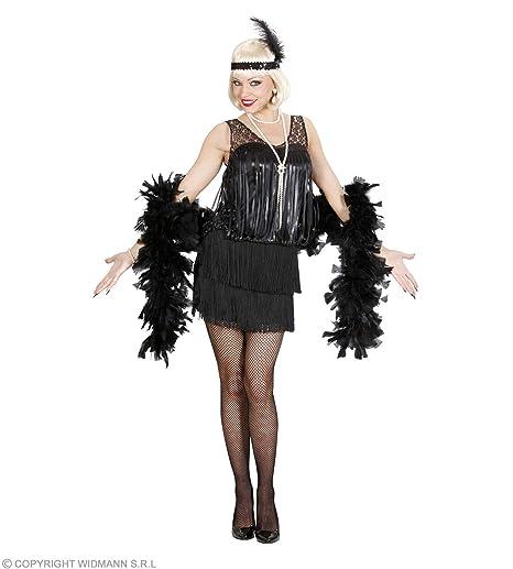 09cf56c1ff8f4c WIDMANN Costume Donna 76722 Charleston Anni 20 Ruggenti Nero [Giocattolo]