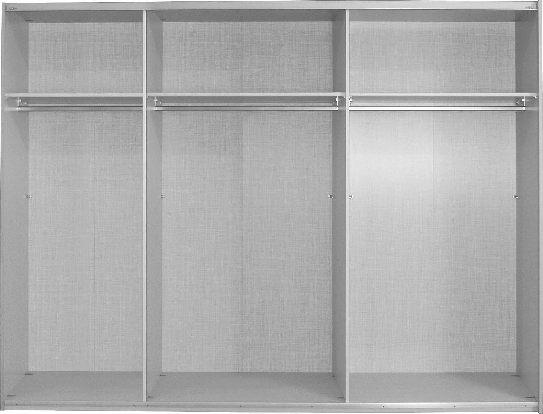 Express Möbel Schwebetürenschrank 3 Türig Bianco Weiß Spiegel Bxhxt