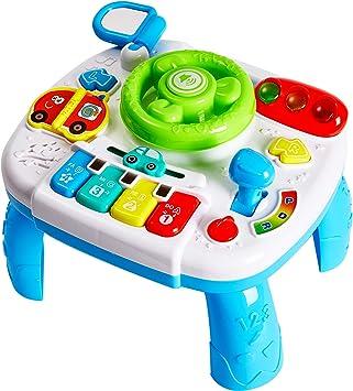 HERSITY Spieltisch Baby Lenkrad Musikspielzeug Lerntisch