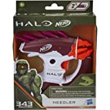 Nerf MicroShots Halo Needler -- Mini Dart-Firing Blaster and 2 Nerf Darts -- Collectible Blaster for Halo Video Game Fans and
