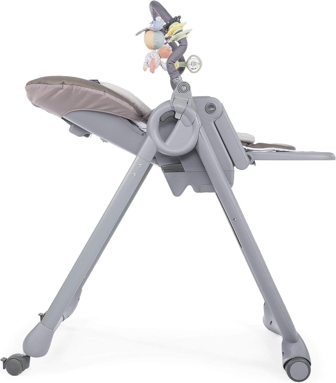 con 4 ruedas y freno Chicco Polly Magic Relax Trona y hamaca evolutiva con barra de juegos plegable y compacta color marr/ón beige de 0 a 3 a/ños Cocoa