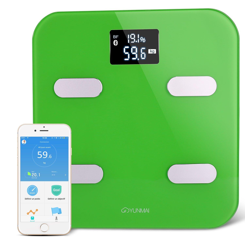 Báscula Smart Bluetooth Inalámbrico YUNMAI Báscula Smart Báscula Bluetooth APP gratis compatbile IOS Android 10 precisión Tamaño Báscula de baño digital ...