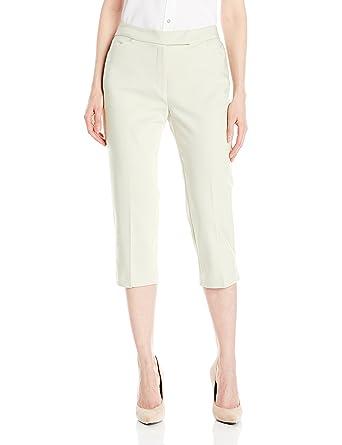 d8496191da0 Ruby Rd. Women s Plus Size Classic Fly Front Double-Face Stretch Capri