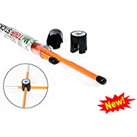 Golf Training Aid | New Improved Design Set of 2 Orange Golf Alignment Sticks. Includes 2 Connectors | Single Size 39.4 inches | An Essential Multifunctional Golf Tool for Your Golf Practice Sessions