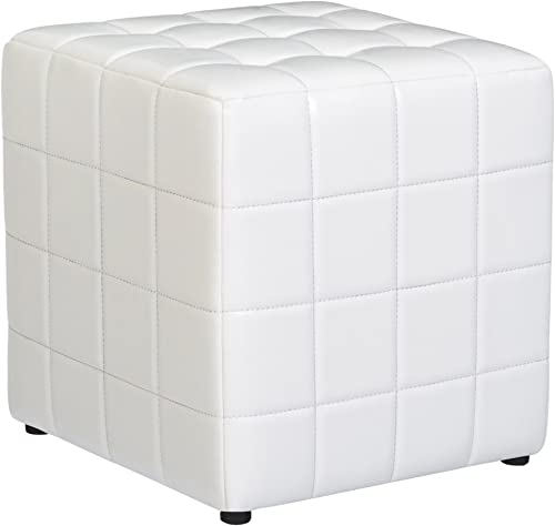 First Hill Altair Square Faux-Leather Ottoman