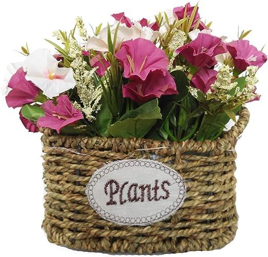 Cesta de flores de seda artificial, arreglos florales, centros de ...