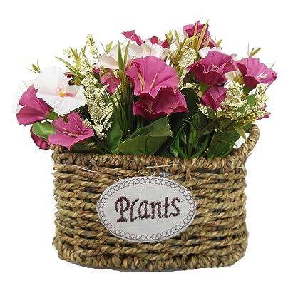 Cesta De Flores De Seda Artificial Arreglos Florales