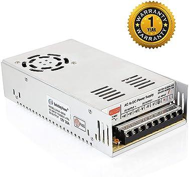 Amazon.com: supernight 12 V 30 A 360 W de conmutación fuente ...