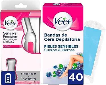 Veet Sensitive Precision - Recortador Eléctrico depilación + ...