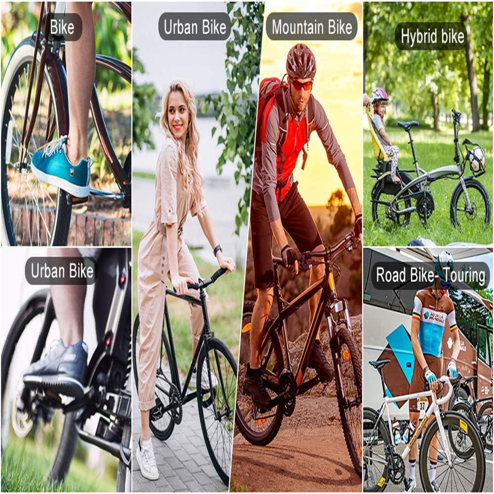 Black CESHUMD Pedals Mountain Bike Pedals Non-Slip Universal Lightweight Aluminium Bicycle Platform Pedals for BMX MTB 9//16