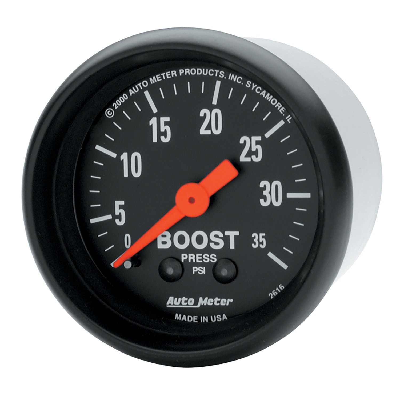 Auto Meter 2616 Z-Series 2-1/16' 0-35 PSI Mechanical Boost Gauge