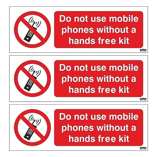 3 x NO utilizar teléfonos móviles sin un kit manos libres ...