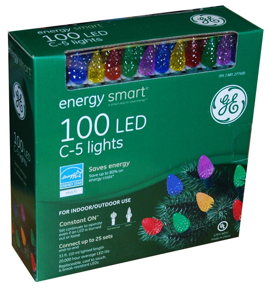 amazoncom 100 led c 5 holiday christmas lights multi color kitchen dining - 100 Led Christmas Lights