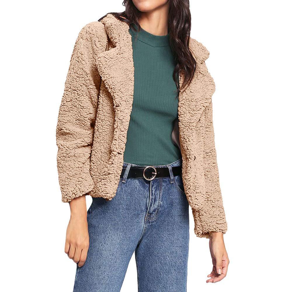 Seaintheson Women's Coats OUTERWEAR レディース B07HRGVDBP  カーキ XXX-Large