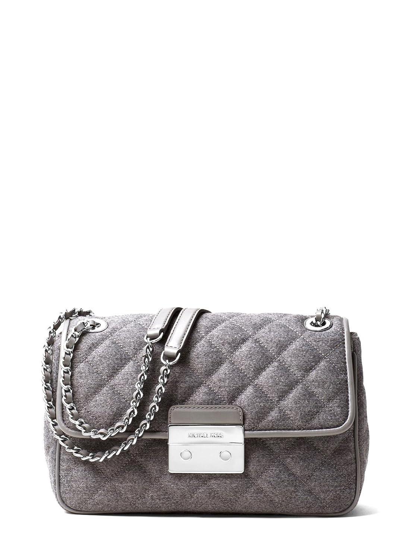 dd440b5f9db1 MICHAEL Michael Kors Gray Sloan Large Quilted Felt Shoulder Bag: Handbags:  Amazon.com