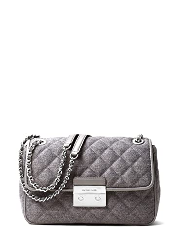 af78baccea6e Image Unavailable. Image not available for. Color  MICHAEL Michael Kors  Gray Sloan Large Quilted Felt Shoulder Bag