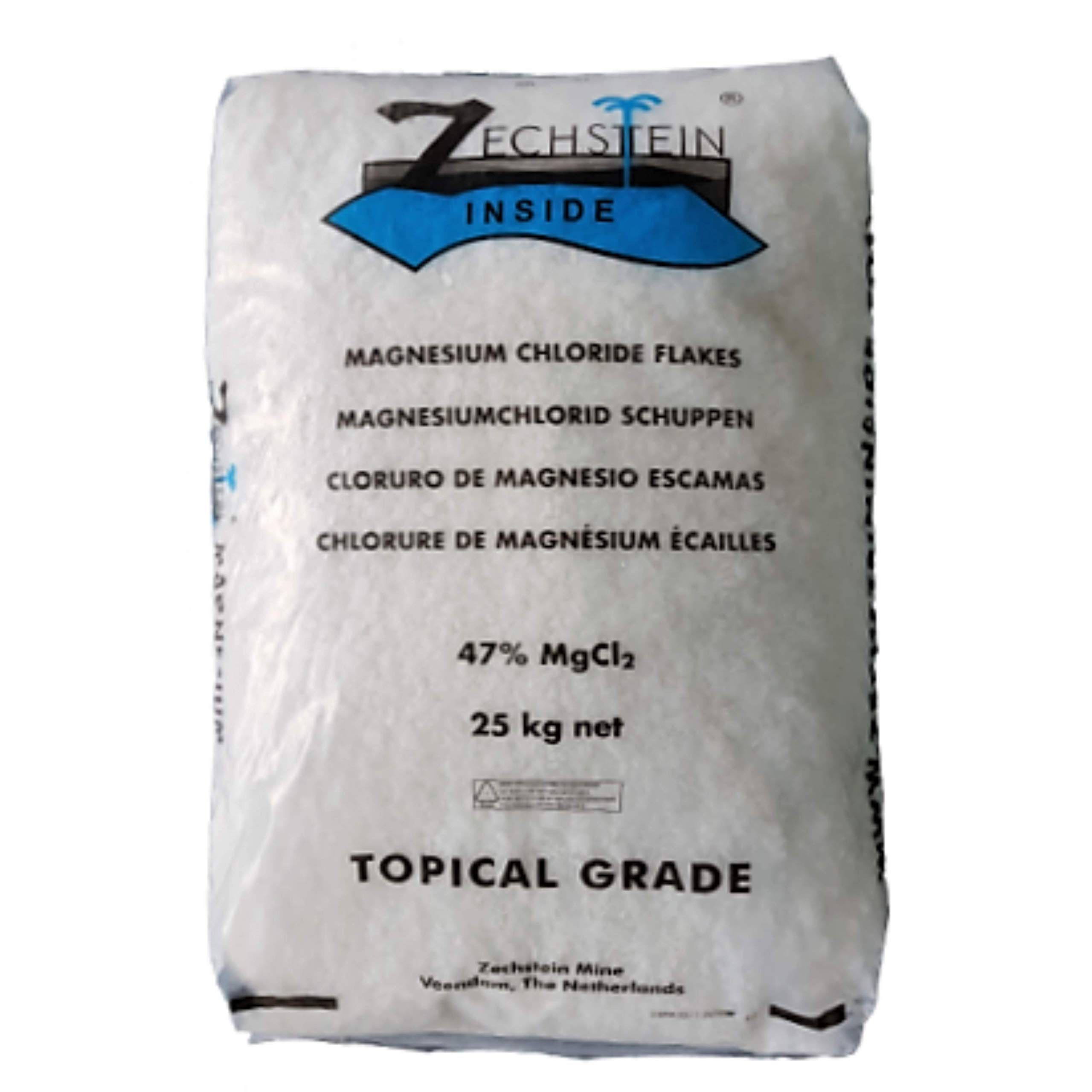 Magnesium Bath Flakes of Pure and All Natural Zechstein Inside Protocol, Highest Quality Magnesium Chloride for Bath and Foot Soaks, Bulk 56lb Bag - 25kg by Three Drops of Life