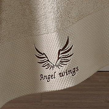 WSQ Hotel de Cinco Estrellas Toalla de Baño de Algodón Súper Grueso Espeso Hombres y Mujeres Fuerte Absorbente Suave Toalla Blanca Personalizada,F,CM: ...