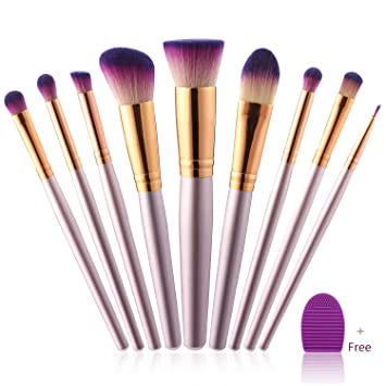 04b02b842727 Makeup Brushes Set - Gift for Her Girl Valentine Mom Wife Women Girlfriend  | Make up Kit - First Beauty...
