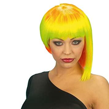 huge selection of 077a9 1f922 Neon Neo Punk Wig for Hair Accessory Fancy Dress  Amazon.co.uk  Toys   Games