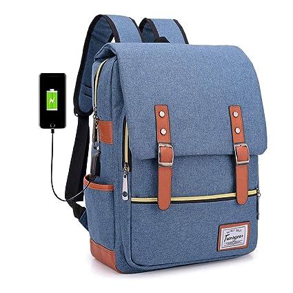 Mochila Con Carga USB Para Hombres Y Mujeres De Gran Capacidad Bolsa De Portátil Informal Bolsa