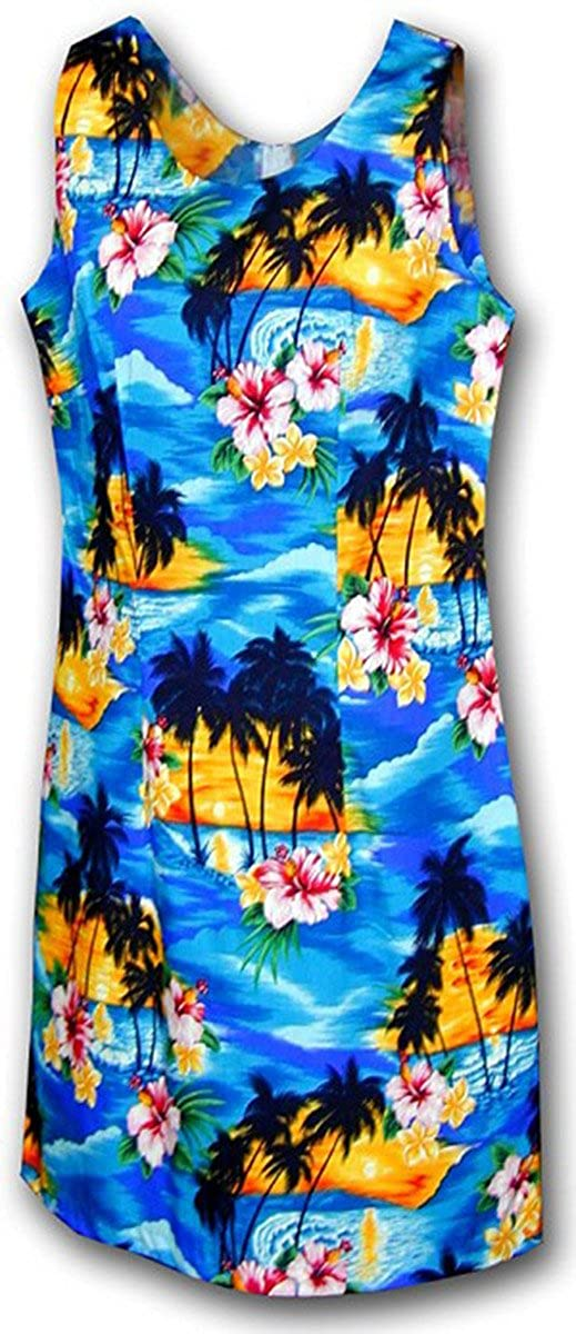 04c079a5 Pacific Legend Sunset Palm Hawaiian Dress - Womens Hawaiian Dress - Aloha  Dress - Hawaiian at Amazon Women's Clothing store: Hawaiian Dresses For  Women