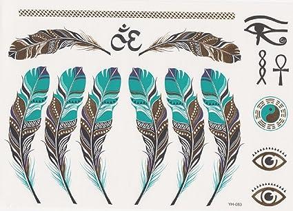 Ys083 Tatuaje Falso Para El Cuerpo Brazos Tobillos Muñeca