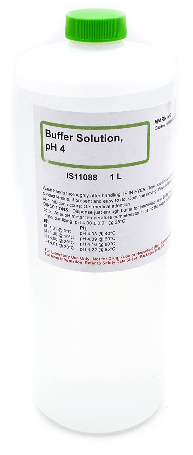Clear 4.00 pH Standard Buffer Solution, 1L - The Curated Chemical Collection