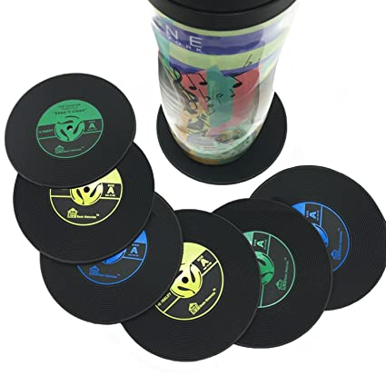 Pleasing Amazon Com Silicone Drink Coasters Large Set Of 6 Vinyl Alphanode Cool Chair Designs And Ideas Alphanodeonline