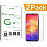 RKINC forRedmi Note 7 Pro/Note 7Screen Protector, [2 Pack] Crystal Clear Tempered Glass Screen Protector [9H Hardness][2.5D Edge][0.33mm Thick][Scratch Resist] forXiaomi Redmi Note 7 Pro/Note 7