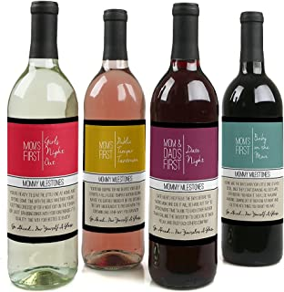product image for Mommy's First Milestones - Gift For Women - Wine Bottle Label Stickers - Set of 4