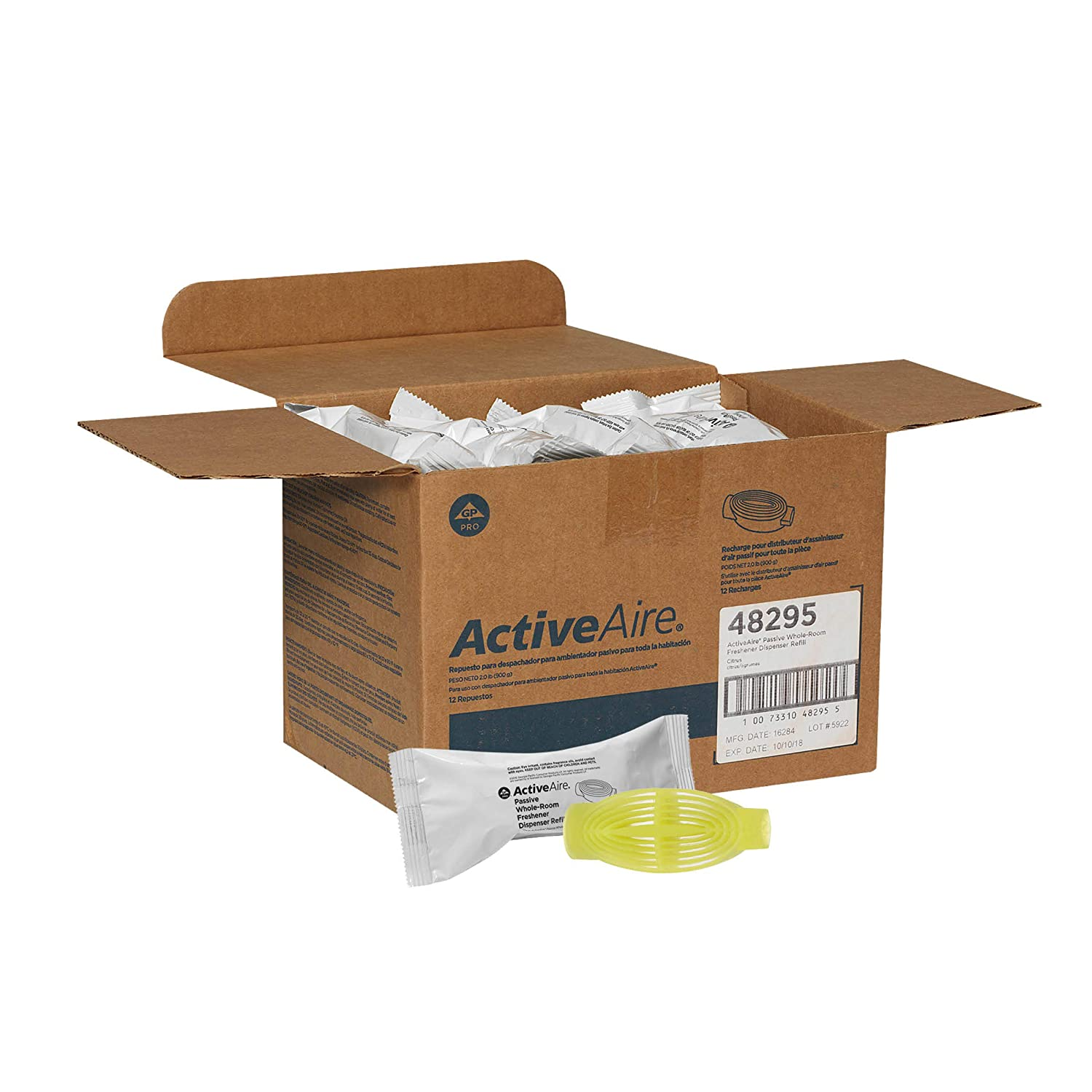 ActiveAire Passive Whole-Room Freshener Dispenser Refill by GP PRO (Georgia-Pacific), Breezy Linen, 48293, 12 Cartridges Per Case: Amazon.com: Industrial & ...