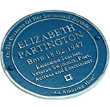 Personalised Handmade Blue Heritage Plaque By TheMetalFoundry.Ltd With Your Choice Of Wording - For Outdoor Or Indoor Use - Solid Aluminium Plaque Handmade In England Makes An Inspiring Gift
